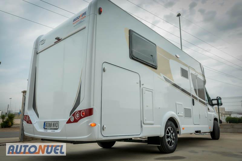 Alquiler de autocaravanas en Tarragona, Autocaravanas Auto Nuel; perfilada camas individuales.