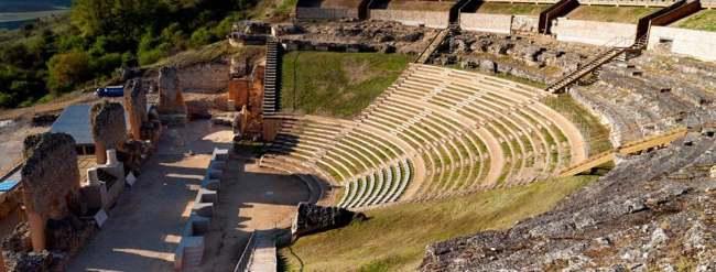 Peñalba de Castro. Teatro romano de Clunia