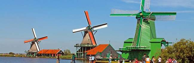 Zaanse Schans, molinos de Holanda