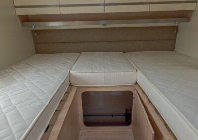 Perfilada camas individuales Giotti, autonuel